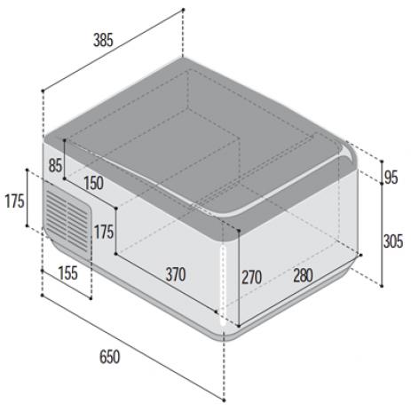 Встраиваемый автомобильный холодильник C41D (Цифровая регулировка температуры)