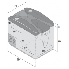 Встраиваемый автомобильный холодильник C29M (Механический термостат)